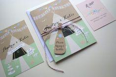 Whimsical tipi wedding stationery from www.lovemyweddinginvites.co.uk