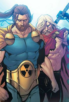 Hyperion and Thor by Stefano Caselli