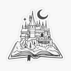 castle - Buy this stock vector and explore similar vectors at Adobe Stock Harry Potter Château, Stickers Harry Potter, Harry Potter Castle, Harry Potter Quilt, Harry Potter Tattoos, Harry Potter Drawings, Wallpaper Stickers, Anime Stickers, Laptop Stickers
