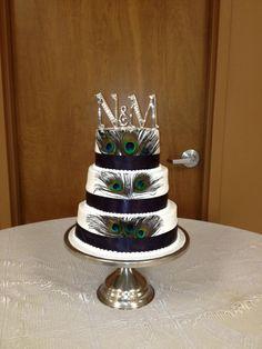 Peacock Wedding Bake Your Day, LLC - Alexandria, LA www.facebook.com/bakeyourdayllc (318) 229-0299 bakeyourdayllc@hotmail.com