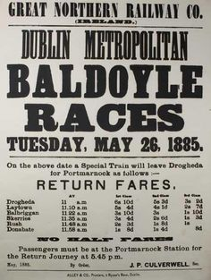 1885 Baldoyle Races Old Photographs, Old Photos, Photo Engraving, Ireland Homes, Cheap Travel, Horse Racing, Letterpress, Dublin, Britain