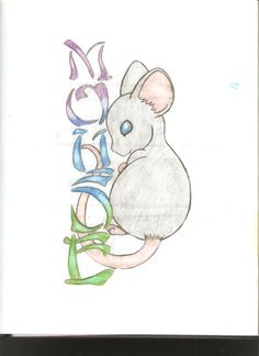I came up with this idea because my nickname is Mouse. Special thanks to amarathimi for letting me modify one of her Mice. Mouse Tattoos, Cute Mouse, New Year Card, I Tattoo, Tatting, Body Art, Zodiac, Doodles, Deviantart