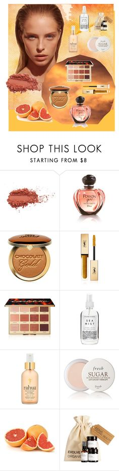 """""""Golden Sun Beauty"""" by mellylibra on Polyvore featuring beauty, Marc Jacobs, Too Faced Cosmetics, Yves Saint Laurent, tarte, Herbivore, RAHUA, Fresh, Summer and Beauty"""