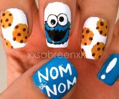 cookie monster nails!!! @Leslie Daamen if you did your nails you could do this!:)