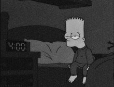 Simpson Wave, Simpson Wallpaper Iphone, Black And White Cartoon, Tu Me Manques, Mood Wallpaper, Black Picture, Summertime Sadness, Sad Anime, Feeling Lonely