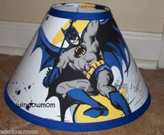 Batman Super Hero Lamp shade made with Pottery barn Kids sheet fabric decor   eBay