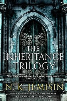 The Inheritance Trilogy by N.K. Jemisin: A vividly imagined world where gods are slaves and nothing is as it seems. Author N.K. Jemisin deftly subverts all the old fantasy tropes in the course of creating a beautiful, rich world full of intriguing characters and dazzling moments that will leave you wanting more.