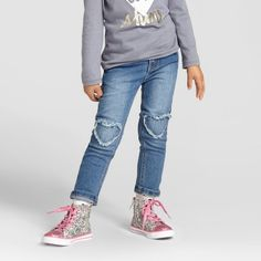 Toddler Girls' Skinny Jeans Medium Wash - Cat & Jack™ : Target