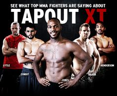 Jon Bones Jones, Ryan Bader, Benson Henderson, Chris Lytle and Carlos Condit use Tapout XT