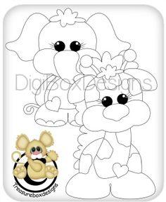 Digi Elephant and Giraffe