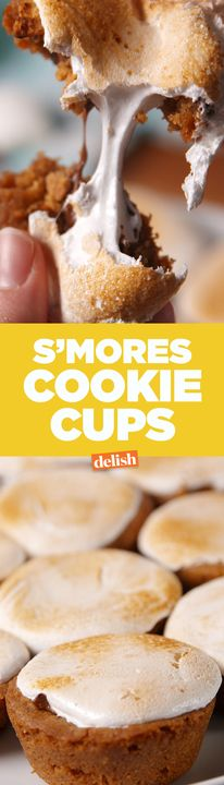 The inside of these S'mores Cookie Cups is even better than a regular s'more. Get the recipe from Delish.com.