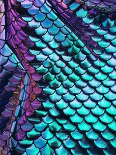 New Fish Scales Mermaid Iridescent Tone Spandex by ABfabric16