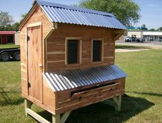 Amish Chicken Coop - they make these down the road from us.