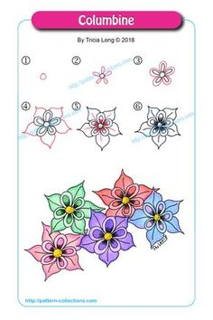 Ideas Drawing Ideas Step By Step Zentangle Patterns Zentangle Drawings, Doodles Zentangles, Doodle Drawings, Doodle Art, Zen Doodle, Flower Drawings, Doodle Patterns, Zentangle Patterns, Flower Patterns