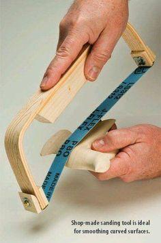 DIY Sanding Tool https://www.facebook.com/WeirdWood/photos/a.451611168078.239345.230545458078/10154928025593079/?type=3