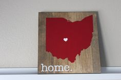 Ohio State University Sign, CHOOSE COLORS, Custom Wood Sign, Pallet Sign, Personalized Wood Sign, home decor, wall art, moving wedding gift