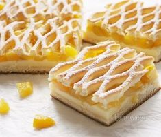 Mriežkový koláč • recept • bonvivani.sk Y Recipe, Czech Recipes, Dessert Recipes, Desserts, Food Dishes, Nutella, Bakery, Food And Drink, Cooking Recipes