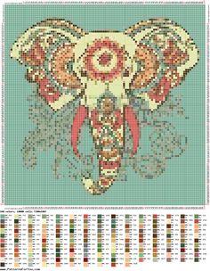 Pincha para descargar (100 Kb) Tapestry Crochet Patterns, Quilt Patterns, Cross Stitch Designs, Cross Stitch Patterns, Cross Stitching, Cross Stitch Embroidery, Cross Stitch Silhouette, Elephant Cross Stitch, Elephant Silhouette