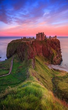 Dunnottar Castle, North Sea coast in Stonehaven, Scotland my ancestral  home . Absolutely stunning :)
