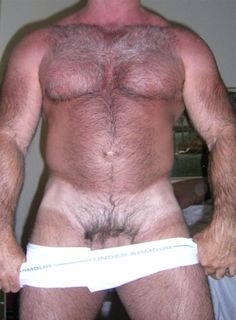 muscle and hairy chest