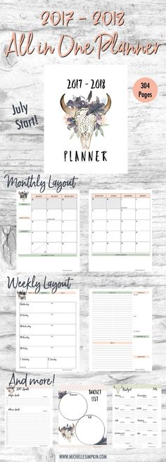Go on more adventures with this 2017-2018 planner! Includes areas to plan your day to day life, track your finances, focus on your goals, and plan adventures every week. Click to find out more...