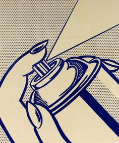 Roy Lichtenstein. Check out the composition and how he was very strategic on how he treated the line.