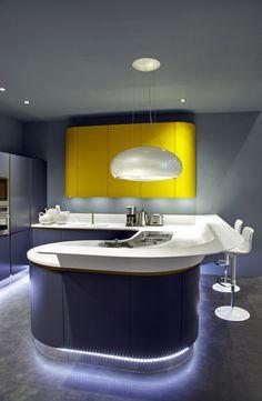 Amazing HI-MACS® kitchen presented by Ar-Tre Cucine at #Eurocucina 2014 in Milan. #Design #HIMACS