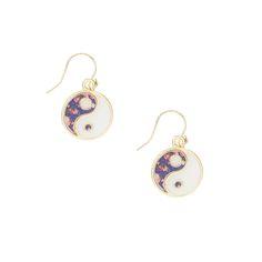 Floral Ying Yang Drop Earrings