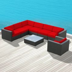 Luxxella Outdoor Patio Wicker DUXBURY Red Sofa Sectional Furniture 8pc All Weather Couch Set Luxxella http://www.amazon.com/dp/B00EIT27N2/ref=cm_sw_r_pi_dp_tUoZub18Z7MZD
