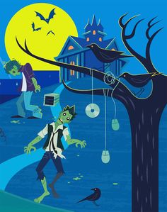 Illustration for Nikkei Computer magazine - Zombie Businessman #zombie #livingdead