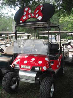 Private decorated cart - Fort Wilderness Campground.  So cute and clever!  I want one!