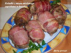 Roladki z mięsa mielonego z serem