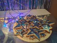 Star cookies at space Galaxy birthday party