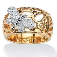 PalmBeach Jewelry Diamond Accent Butterfly Ring $89.99 each