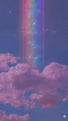 Wallpaper Pastel, Cute Galaxy Wallpaper, Night Sky Wallpaper, Butterfly Wallpaper Iphone, Rainbow Wallpaper, Glitter Wallpaper, Wallpaper Iphone Cute, Disney Wallpaper, Beautiful Wallpaper
