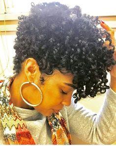 9.Natural Curly Short Hair Natural Hair Cuts, Natural Curls, Natural Hair Styles, Tapered Natural Hairstyles, Short Natural Haircuts, Black Girls Hairstyles, Hairstyles Haircuts, Curly Haircuts, Dreadlock Hairstyles