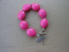 Pretty Pink Bracelet by EyeKandyJewellery on Etsy, $13.00  http://www.eyekandyjewellery.com