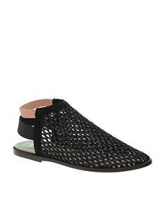Image 1 - New Kid - Elma - Chaussures plates semi-ouvertes en raphia avec bride arrière