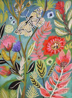 Bohemian Art Painting Canvases Artists Ideas For 2019 Bohemian Painting, Bohemian Wall Art, Bohemian Style, Bohemian Flowers, Large Art Prints, Framed Art Prints, Illustration Blume, Oeuvre D'art, Illustrations