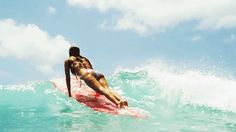 The Dope Surf Society® | Surfer girl, surf, gif, long board,