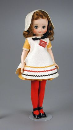 """106.2870: Betsy McCall """"School Days"""" Costume   doll   Dolls from the Fifties and Sixties   Dolls   National Museum of Play Online Collections   The Strong"""