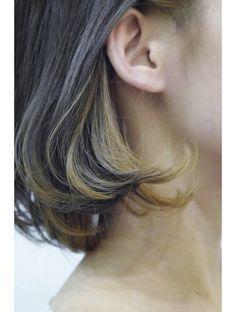 G* cold n warm Hair Color Streaks, Hair Color And Cut, Sleek Hairstyles, Hairstyles With Bangs, Mid Length Hair, Aesthetic Hair, Grunge Hair, Hair Looks, Dyed Hair
