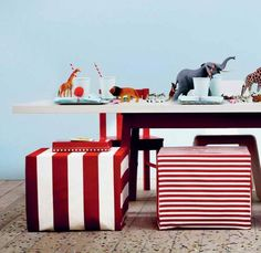 animal table decor #ikea