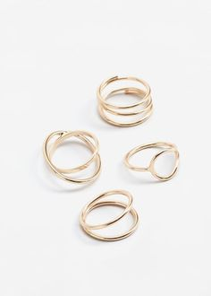 Metal ring set -  Women | MANGO USA