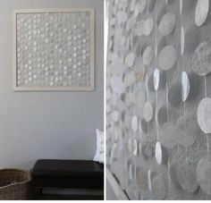 Faux Shell Wall Hanging | Click Pic for 36 DIY Wall Art Ideas for Living Room…