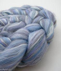Blue Spinning Fiber Merino Shetland Milk Protein Firestar