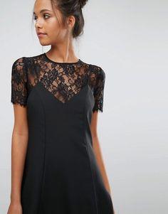 Miss Selfridge | Miss Selfridge Lace 2 In 1 Cami Dress