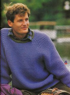 Vintage Knitting Pattern Instructions for a Mens Fishermans Rib Jumper/Sweater