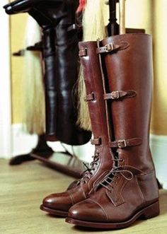 046b1f6c0145 Unique MUX World War 2 German Police officers Riding Leather Tall Boot  Custom Made
