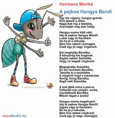 Hermann Marika verse Hangya Bandikától Techno, Poems, Kids, Fictional Characters, Google, Young Children, Boys, Poetry, Children